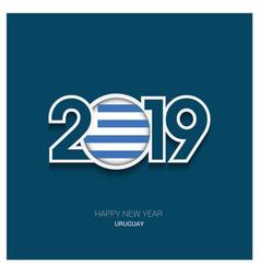 2019 uruguay typography happy new year background vector