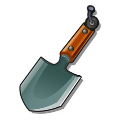 A small shovel hanging on a nail isolated on a vector