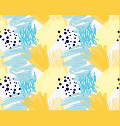 abstract blue and yellow with black dots vector image