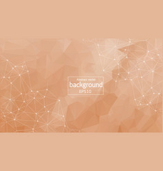 abstract polygonal dark brown background with vector image
