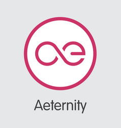 Aeternity ae - cryptographic currency graphic vector