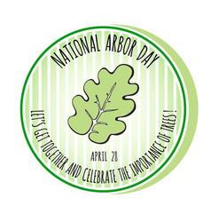 arbor day icon oak leaf vector image