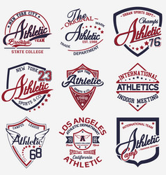 Athletic set 9 vector