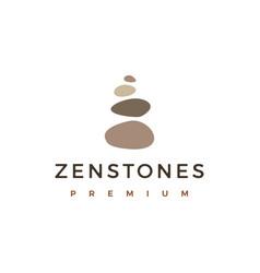 Balancing rock zen stone stones logo icon vector