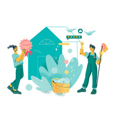 Banner for cleaning service and household staff vector