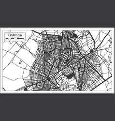 Batman turkey city map in black and white color vector