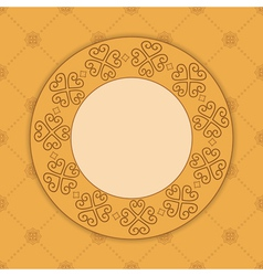 beige decorative card with ornament vector image