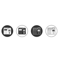 Black house intercom system icon isolated on white vector