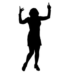 Black silhouette of a dancing woman vector