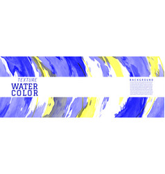 blue and yellow surface splash watercolor vector image