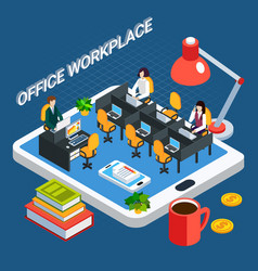 Business workplace conceptual background vector