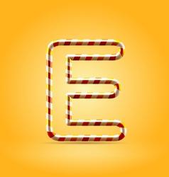 Candy summer hot orange outline font vector