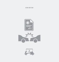 Car crash document - web icon vector