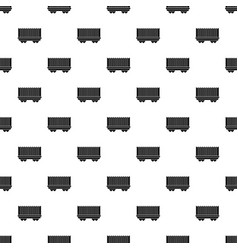 Cargo wagon pattern vector