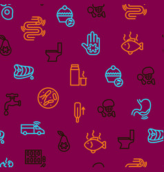 causes of diarrhea seamless pattern background vector image