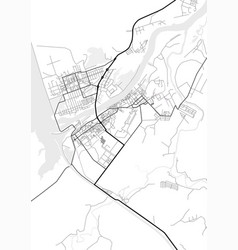 city map of dubna in black and white vector image