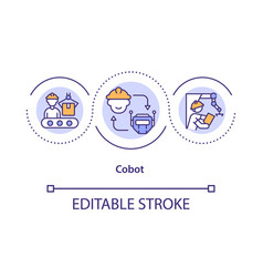 collaborative robot concept icon vector image