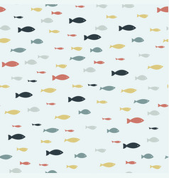 colored tropical fish seamless pattern on a white vector image