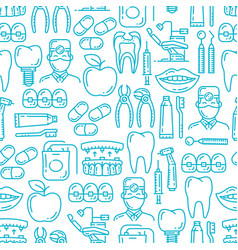 Dentistry medicine dentist seamless pattern vector