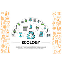 ecology and energy template vector image