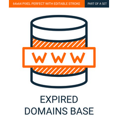 expired domains base simple outline vector image
