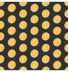 Falling coins seamless pattern vector image