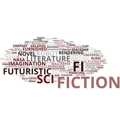 Fiction word cloud concept vector