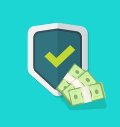 financial insurance guarantees money protection vector image