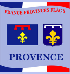 Flag of french province provence vector