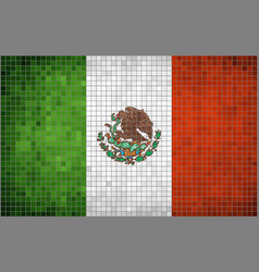 Flag of Mexico Mosaic vector image