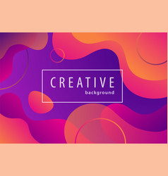 gradient color geometric background fluid shapes vector image