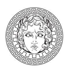Greek and roman god apollo helios vector
