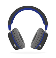 headphones in flat style on white background vector image