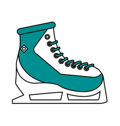 Ice skates design vector