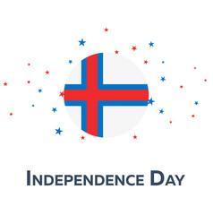 Independence day of faroe islands patriotic vector