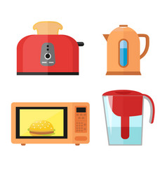 kitchen equipment set isolated on a white vector image