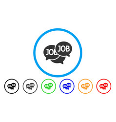 Labor market rounded icon vector