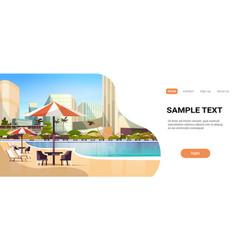 luxury city hotel swimming pool resort vector image