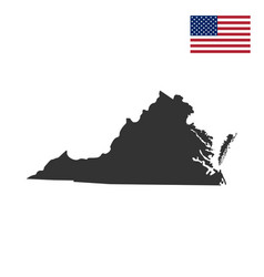 map of the us state of virginia vector image
