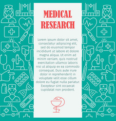 medical research pattern vector image