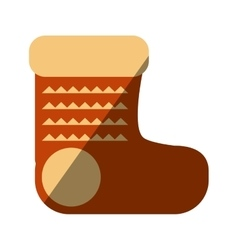 merry christmas socks isolated icon vector image