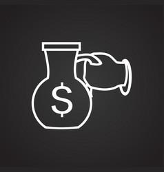 Money cash carafe thin line on black background vector