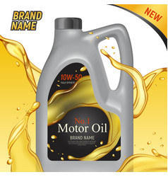 Motor oil ad background vector