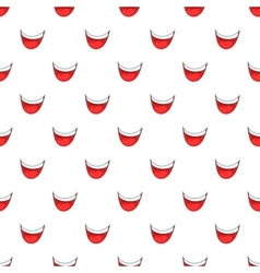 Mouth clown pattern cartoon style vector