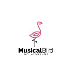 musical bird vector image