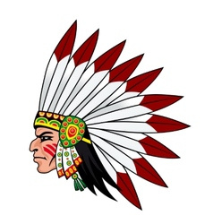 Native indian people vector image