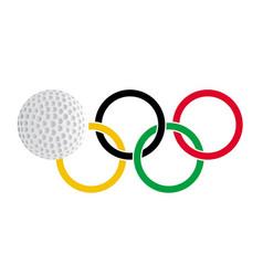 Olympic golf vector