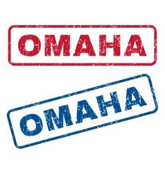 Omaha Rubber Stamps vector image