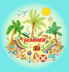 On a summer holiday theme with vector