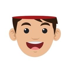 Open human head icon vector